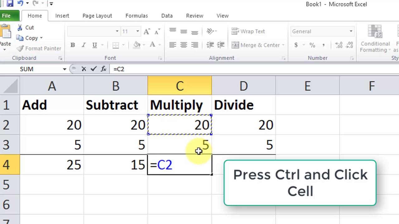 Excel Formulas Multiply
