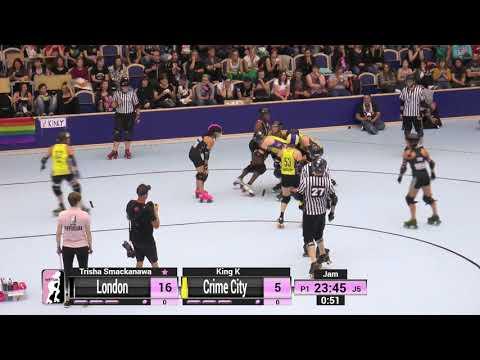 2017 International WFTDA D1 Playoffs: Malmö - Game 15: Crime City vs London