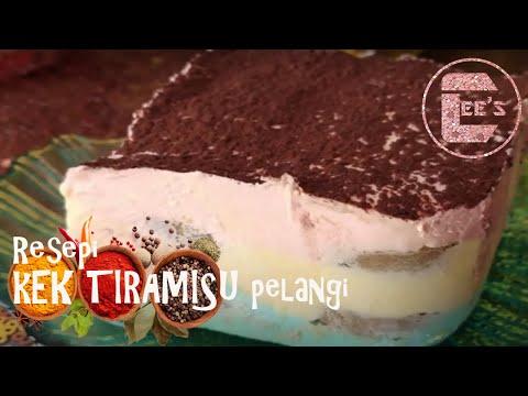 kek-tiramisu-pelangi---resepi-mudah-dan-kurang-manis---no-bake