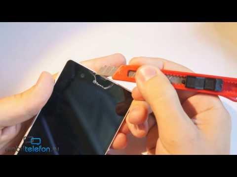 Снимаем заводские пленки с Sony Xperia Z, избавляемся от царапин