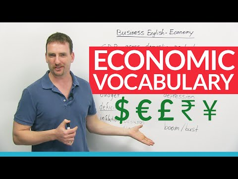 English Vocabulary: How to talk about the economy