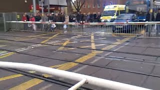 Lincoln Central Level Crossing with ambulance AGAIN!!!!!!!!!!