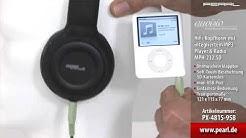 auvisio HiFi-Kopfhörer mit integriertem MP3-Player & Radio MPH-232.SD