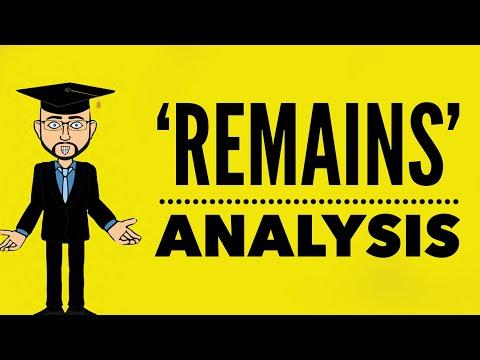 Simon Armitage: 'Remains' Mr Bruff Analysis