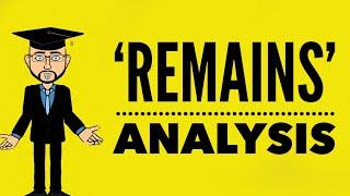 simon armitage remains mr bruff analysis
