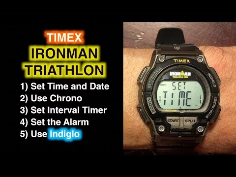 How to Set Ironman Triathlon and Use Chrono, Timer, and Alarm