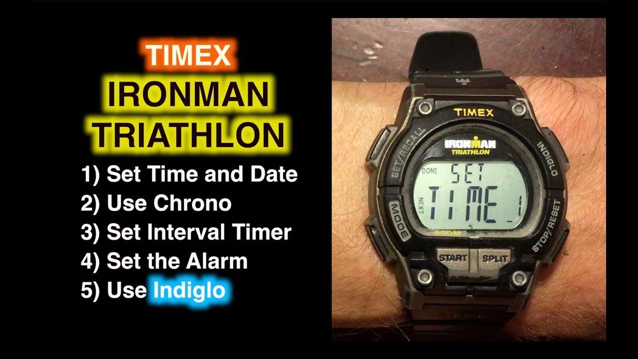 How to Set Timex Ironman Triathlon  Set Time Date