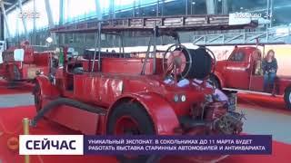 Москва 24. Новости. Выставка старинных автомобилей в Сокольниках