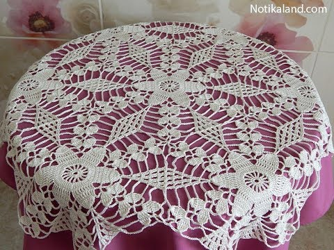 Crochet motif patterns for tablecloth Part 5 How to join motifs  Diy crochet tablecloth