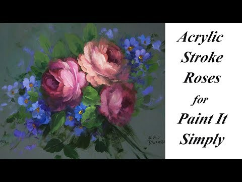 Acrylic Stroke Roses for Paint It Simply