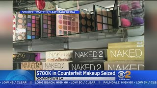 LAPD Seizes $700K In Counterfeit Makeup From Santee Alley