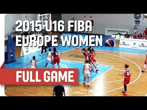 Netherlands v Croatia - Group G - Full Game - 2015 U16 European Championship Women