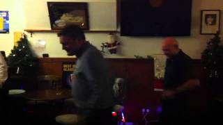 drunk possible gay men dancing to sexy thing by hot chocolate