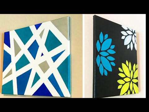 DIY Easy Canvas Arts / Wall Decor / How to Create a Stencil Arts  | #005 |