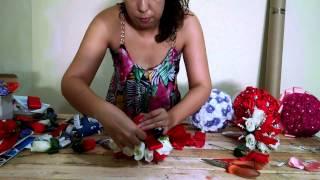 Buque de noiva Aline ( parte 1)