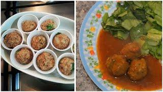 Receita do Capricha - Almôndegas de soja de baixa caloria (vegana) | Por Tuka Sampaio ♡