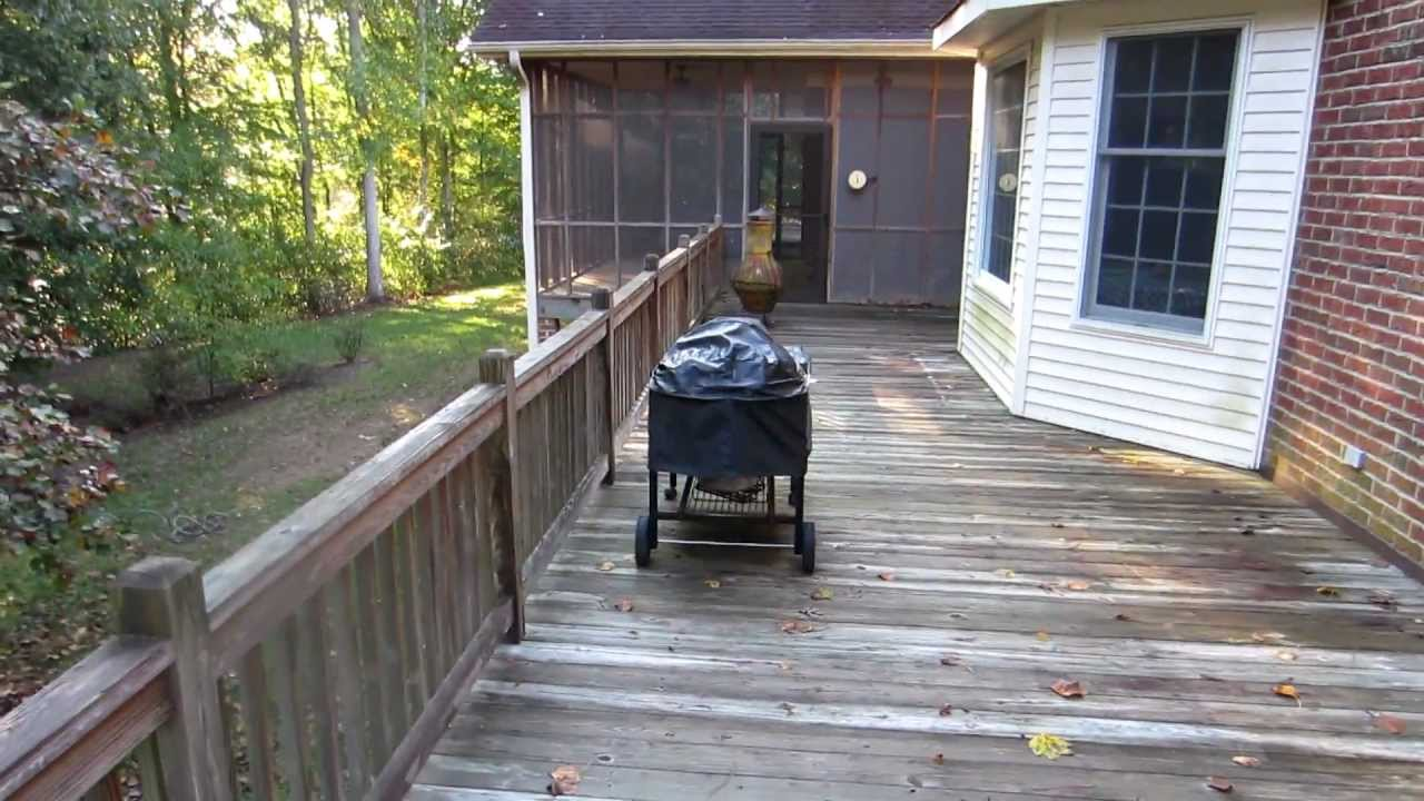 Screened porch and large deck cleaning staining sealing for What is a porch