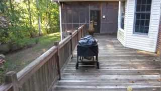 "Wood Re New Screened Porch And Large Deck Cleaning, Staining, Sealing Sanford Nc ""before"" Video"