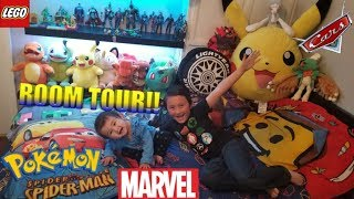 ETHAN MONSTERS ROOM TOUR!! HERE'S A VIP LOOK INSIDE OUR HOUSE!! TOYS, PLUSH, GAMES & COLLECTIBLES!!