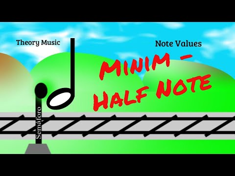 Minim - Half Note - Music Notes Values - Music theory for beginners - Lesson 6