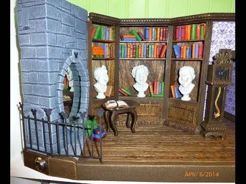 Paper haunted house model