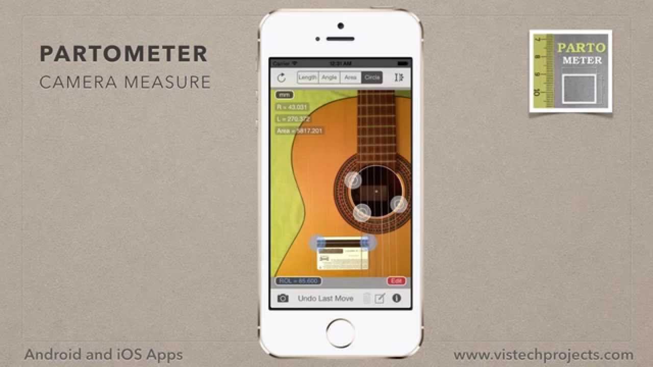 Partometer - camera measure app for iPhone and iPad  Circle Mode
