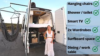 VAN TOUR | INSANE Sprinter Van Luxury Conversion With ALL The Features Bathroom / Shower Etc
