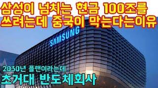 삼성이 넘치는 현금 100조를 쓰려하는데 중국이 막는다는 이유