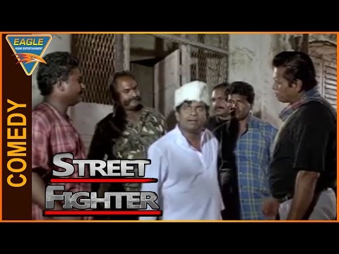 Street Fighter Hindi Dubbed Movie    Brahmanandam Hilarious Comedy Scene    Eagle Hindi Movies thumbnail