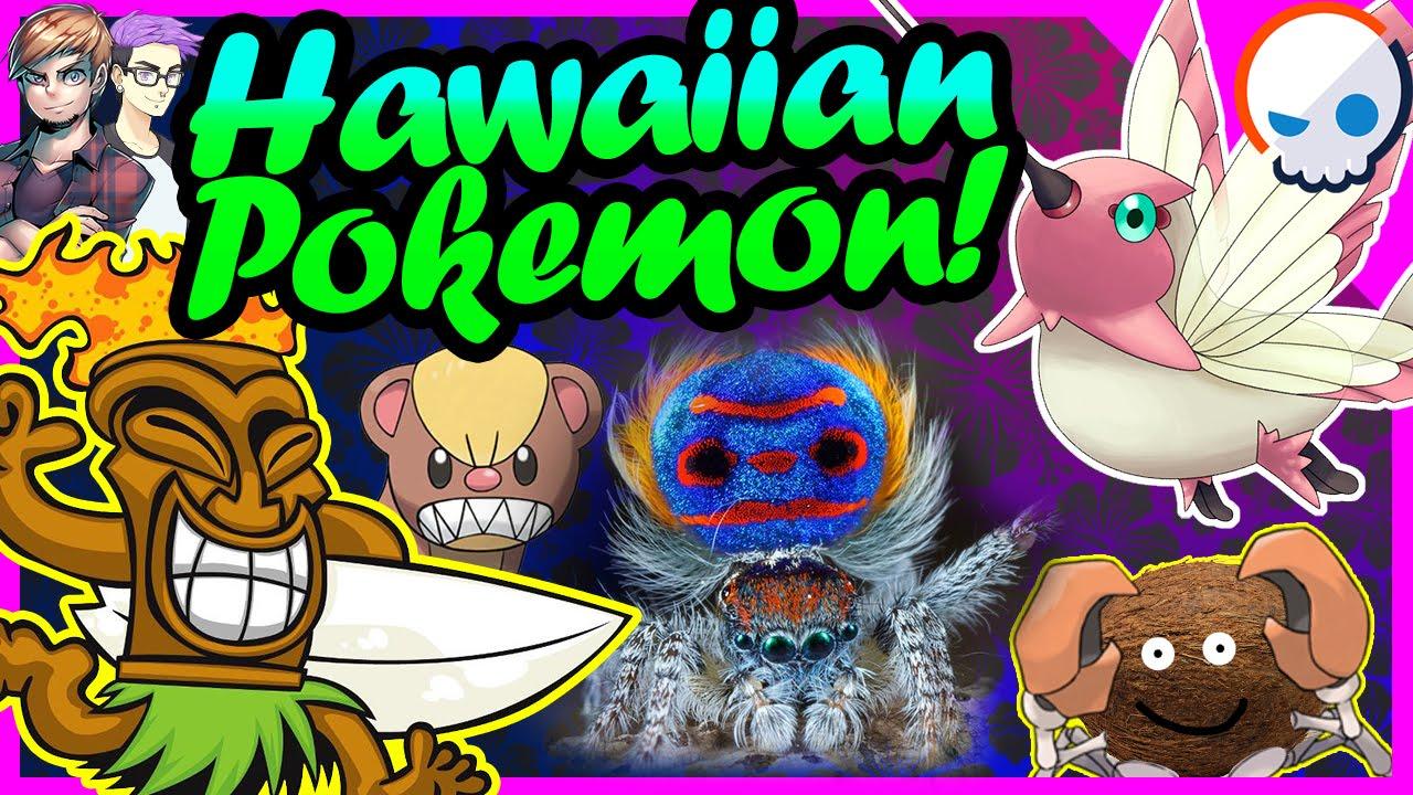 hawaiian animals and legends new pokemon in sun and moon