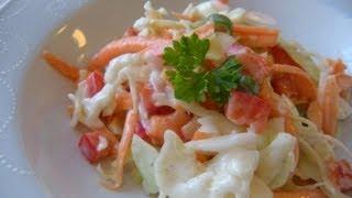 Amerikanischer Krautsalat (coleslaw)