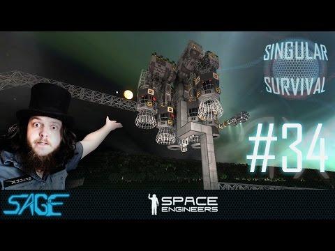 Space Engineers, Escape Ship Extension (Singular Survival, Ep 34)