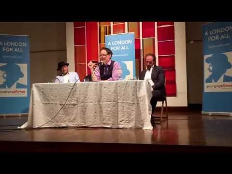 George Galloway holds emergency public meeting on #Greece the EU coup and austerity
