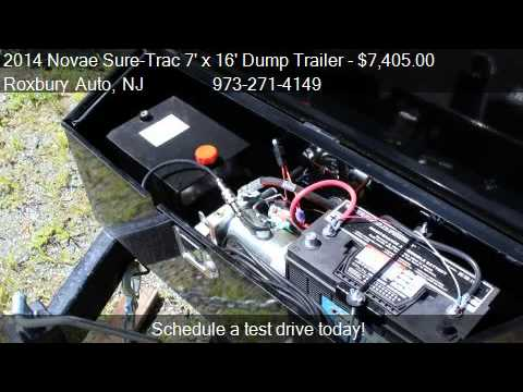 2014 novae sure trac 7 x 16 dump trailer 14k scissor lift youtube cheapraybanclubmaster Choice Image
