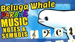 Belgua Whale Teaching Musical Notation and Symbols Educational Music ...