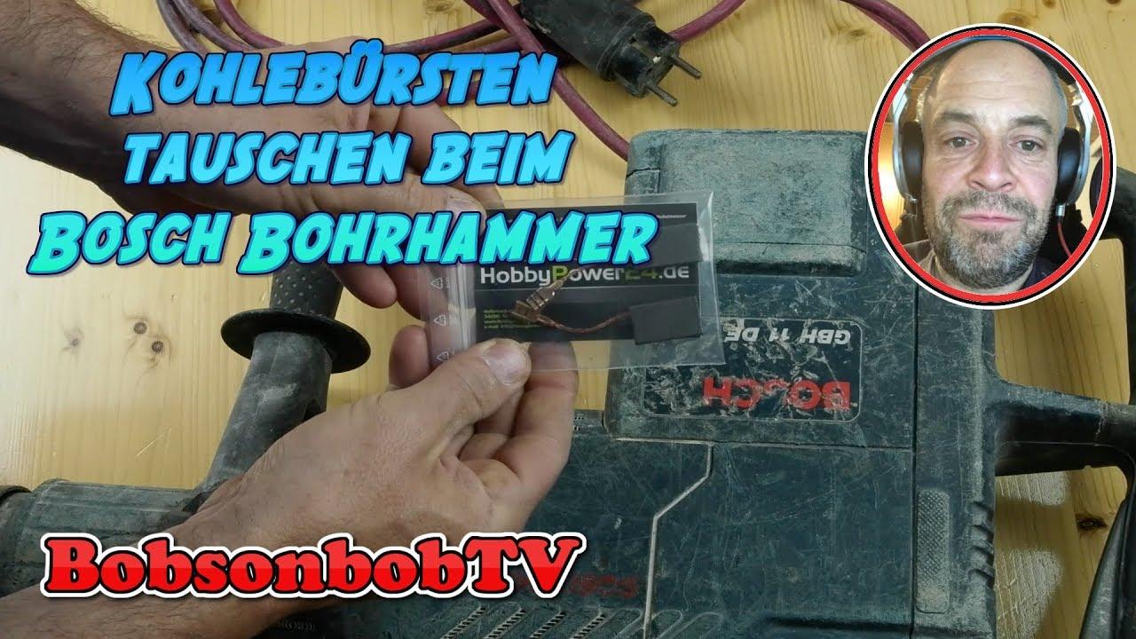 Kohlebürsten Kohlen Bei Bosch Gbh11de Bohrhammer Einbauen
