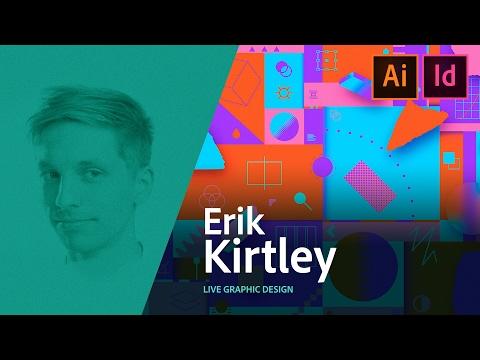 Graphic Design  Erik Kirtley creates a movie poster live