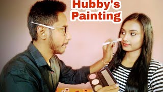 Husband Does My Lovely MakeUp,😘😘 Hubby