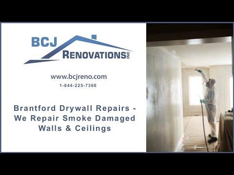 Brantford Drywall Repairs    We Repair Smoke Damaged Walls & Ceilings