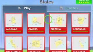 Preview of  Geography of the United States of America: Map Learning and Quiz Game for Kids