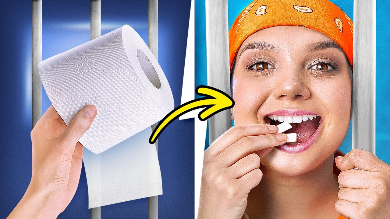 HOW TO MAKE A GUM FROM TOOTHPASTE AND TOILET PAPER🍬🧻    PRISON HACKS