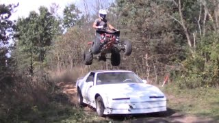 Jumping over a car (Trans Am) with a quad!!! Video