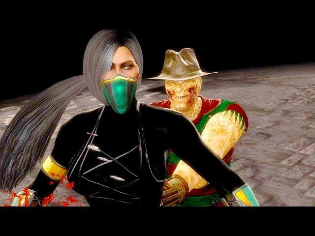 Mortal Kombat 9 - All Fatalities & X-Rays on Black Jade Costume Skin Mod 4K Ultra HD Gameplay Mods