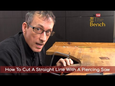How To Cut A Straight Line With A Piercing Saw - Making Your Own Jewellery At Home