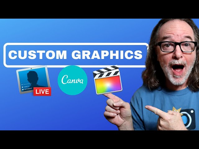 Creating Graphic Overlays for Live Stream - EASY!
