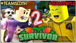 TEAM TURTLE IS UNBEATABLE!! (YouTuber Roblox Survivor)