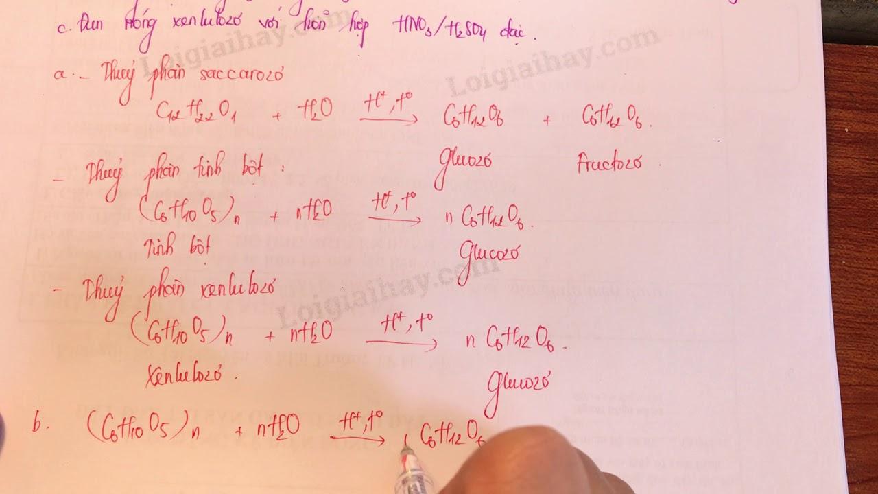 Giải bài 5 trang 34 SGK Hóa học 12
