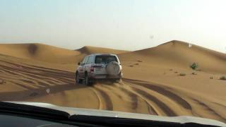 Safari with 4-wheel drive in the desert near Dubai. Part 1. UAE.