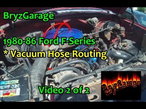1980 85 Ford F Series Vacuum Hose Routing Part 2 Youtube