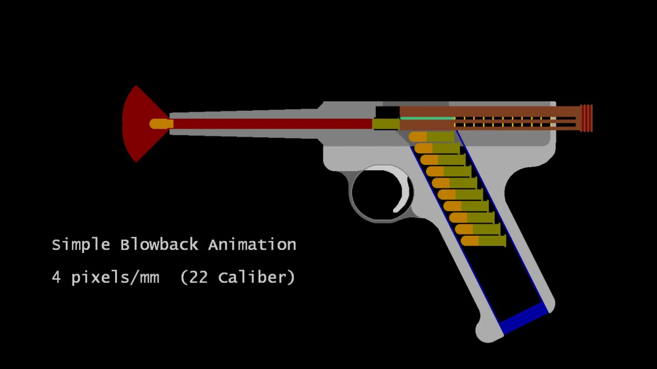 How Gun Works Simple Blowback Animation Youtube